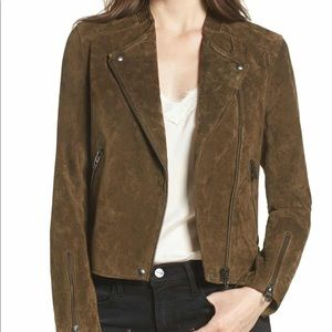 NWT No Limit BLANK NYC Suede leather Moto jacket